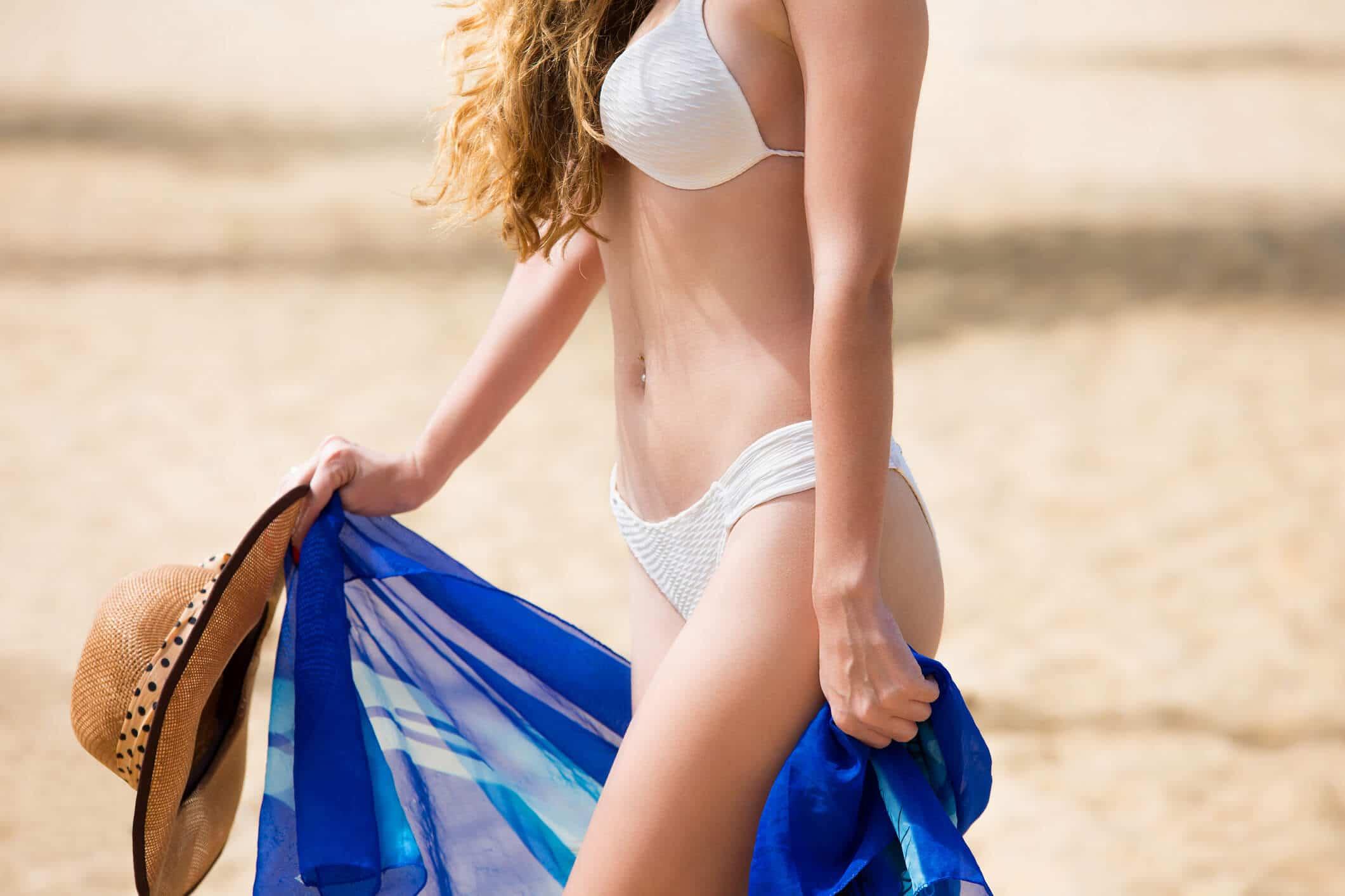 como usar canga de praia