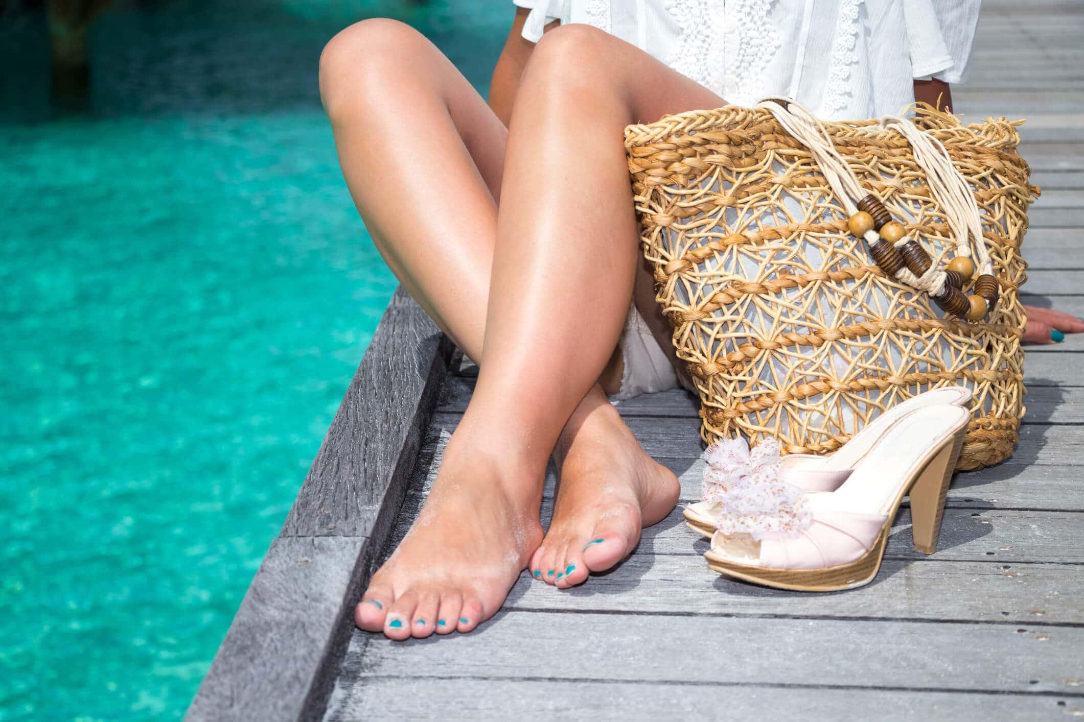 bolsa de praia de palha